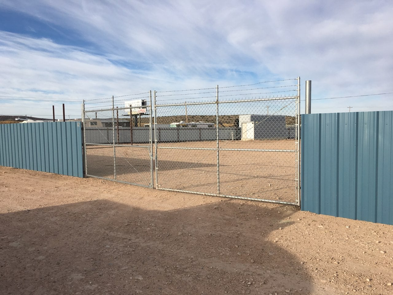 Secure fencing for contractors and tractor trailer storage Carlsbad NM